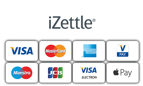 Accept payments from Visa, MasterCard, American Express, V Pay, Maestro, JCB, Visa Electron, and Apple Pay